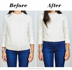 The Ultimate Sweater Hack for Short Girls #fashion #DIY