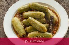 Zucchini Stuffed with Lamb Recipe