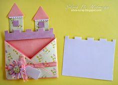 Invitacion en forma de castillo, ideal para el cumple de una nena