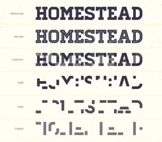 Hometrainer | Free Font with different fragmented styles