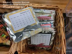 Mini Calendar / Refrigerator magnet / Altered coaster / Craft Show / Christmas / Stampin' Up! / StampinBlessings.wordpress.com