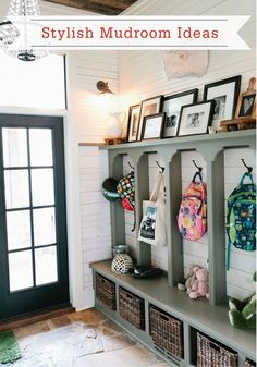 This gorgeous mix of function and rustic design is the perfect way to decorate your mudroom. Plus, these adorable cubbies are the perfect storage solution—ideal for keeping your family's things organized.