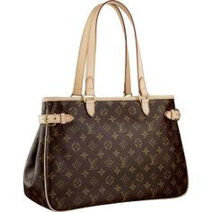 LOUIS VUITTON MONOGRAM CANVAS BATIGNOLLES HORIZONTAL M51154 -Carried by hand or on the shoulder -Comfortable leather handles -Golden brass pieces -One interior zipped pocket -Natural cowhide leather straps to adjust the width of the bag