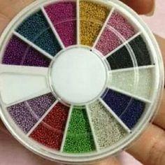 Mix Colorful Metallic Caviar Nails Art Tips Design Beads Handmade Crafts, Handmade Items, Diy Crafts, Handmade Products, 3d Nail Art, Nail Art Hacks, Caviar Nails, Nail Art Supplies, Glue On Nails