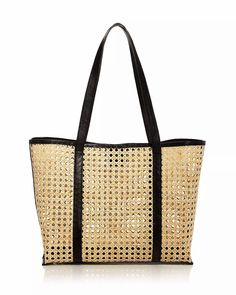 AQUA Santai Rattan Tote Sewing Leather, Cow Leather, Shooting Bags, Black Espadrilles Wedges, Plus Size Peplum, Classic Gold, Dress Shirts For Women, Summer Tops, Rattan