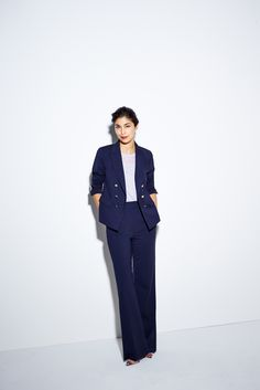 Caroline Issa's Guide To Every Single Item That Makes Up A Complete Wardrobe #refinery29  http://www.refinery29.com/caroline-issa-nordstrom#slide-9  The trousers on this suit also come in a cropped version.