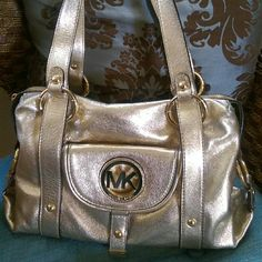 Michael kors metallic leather purse New without tags Michael Kors Bags Shoulder Bags