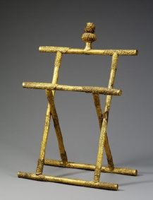 Gilt-silver mirror-stand, of the Goryeo Dynasty. At the National Museum of Korea, acc. no.: Deoksu 5704