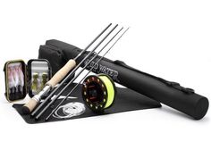 Wild Water Fly Fishing 9 Foot, Weight Fly Rod Deluxe Complete Fly Fishing Rod and Reel Combo Starter Package with Freshwater Flies Fly Fishing Kit, Fishing Rods And Reels, Fishing Tools, Fishing Equipment, Best Fishing, Fishing Tackle, Fly Fishing For Beginners, Topwater Lures, Fly Casting