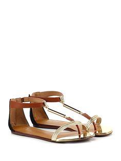 Carrano - Sandalo basso - Donna - Sandalo basso in pelle ed eco pelle  laminata con e46b125e2d2