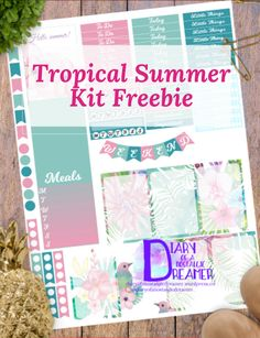 Tropical Summer Kit Freebie For Happy Planner – Diary of a Nostalgic Dreamer