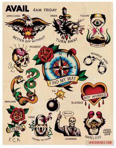 Avail Friday Tattoo flash - Old School Flash - Tattoo Flash Art Tattoos, Body Art Tattoos, Sleeve Tattoos, Retro Tattoos, Sanduhr Tattoo Old School, Old School Tattoo Designs, Neotraditionelles Tattoo, Tattoo Drawings, Mandala Tattoo