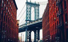 Brooklyn Bridge, New York, winter, Manhattan, USA