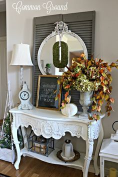 common ground : Early Fall Entry with a new Chalkboard Print