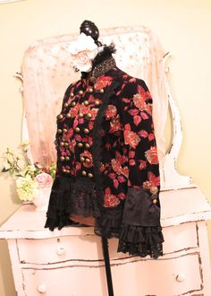Bohemian Lace Jacket Brocade Amadeus Coat Ruffle by SownThreads