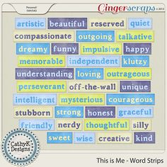 This is Me - Word Strips