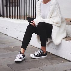 Chunky Knit And Leggings