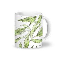 Caneca White Natural Leaves de @jurumple | Colab55