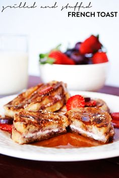 Mini Grilled and Stuffed French Toast | asimplepantry.com