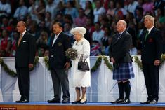 The Queen was welcomed by Commonwealth Games Scotland (CGS) chairman Michael Kavanagh, Glasgow 2014 organising committee chairman Lord Smith of Kelvin and Commonwealth Games Federation president Prince Imran from Malaysia as she arrived at Celtic Park for the opening ceremony of the 20th Games