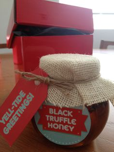 Home made Black Truffle Honey, gift for our clients at Yell 2013 Black Truffle, Truffles, Honey, Homemade, Creative, Gifts, Cake Truffles, Presents, Truffle