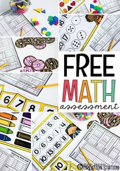 Beginning math skills assessment for your students to help guide math instruction for whole group math, math small groups, and math centers. Learn the best way to utilize the assessment in your class. This free printable is best used at the beginning of the school year to help you assess your preschooler, pre-k, and kindergartener. #preschool #kindergartener #math #mathassessment #freeprintable