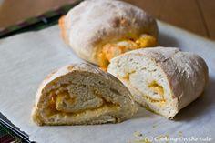 Cheddar-Stuffed Crusty Loaves