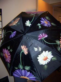 A hand painted umbrella painted for a friend.