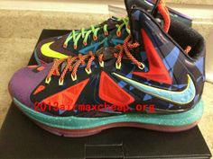 Lebron James 2013 X MVP Laser Purple Neon Turquoise Bright Crimson Electric  Yellow 8f205bace