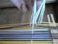Tutorial básico #2 - Telar Aborigen Inkle Weaving, Inkle Loom, Card Weaving, Tablet Weaving, Crochet Quilt, Tapestry Crochet, Tapestry Weaving, Fabric Yarn, Fabric Crafts