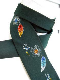 Jerry Garcia Silk Tie Hand Painted