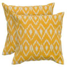 Yellow Ikat Pillows