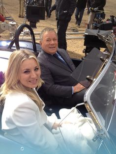 by Paul Camuso... from the set -   William Shatner and Kaley Cuoco