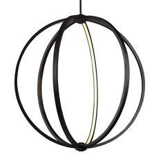 """Feiss P1393ORB - Khloe 30"""" LED Globe Pendant in Oil Rubbed Bronze"""