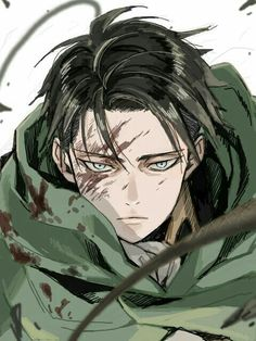 Fica tão lindo com sangue na cara ❤ Levi