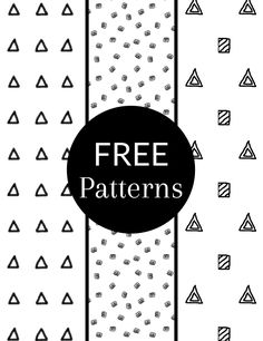 Free Black and White #Patterns. #triangle #rectangular
