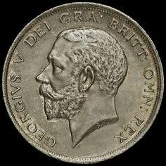 1917 George V Silver Half Crown, A/UNC
