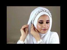Simple Bridal Hijab Tutorial - YouTube