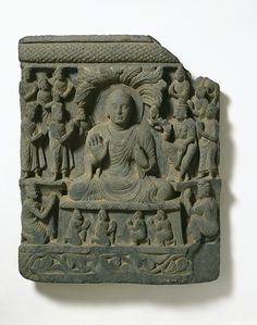 2nd-4th century, Swat Valley, buddha, schist, at the Victoria & Albert Museum (London)