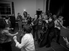 Another Emma B Murrills photo from Letham Village Hall in Scotland on May 5, 2018. This is the end of our second encore. We came out on the floor after five solid minutes of shouting and applause. Some folks thought that was it and went home. About half the audience was still there so we played Teenage Kicks for them as the P.A. was already being packed up. Look at them dancing! What a sweet night. 💃🕺
