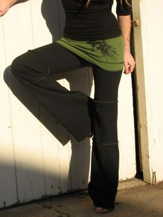 Devi Yoga Pants Organic Cotton by HerbanDevi on Etsy, (These are really cute Yoga pants. Love the colors...yes as you know, I love dark colors lol)