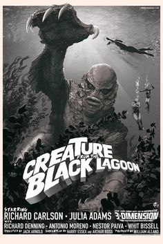 Creature from the Black Lagoon - Variant by Stan & Vince Mondo Tees