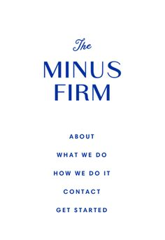 website of the minus firm.