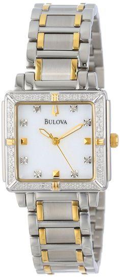 #Bulova #Watch , Bulova Women's 98R112 Diamond Accented Two-Tone Stainless Steel Bracelet Watch