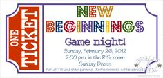 Young Women Game Night Invitation Free Download