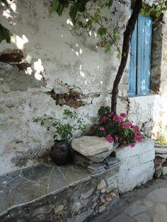 The Square in Damalas Naxos Greece by PatSadler on Etsy,