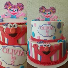Sesame Street Elmo Birthday Cake My Cakes Pinterest Elmo - Elmo and abby birthday cake