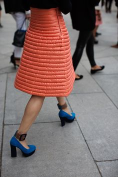 Skirt seen at the Louis Vuitton runway show in Paris - photo by the Sartorialist.