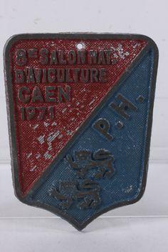 French Aluminum Award Plaque Trophy 8E Salon Nat D'Aviculture CAEN 1971 PH