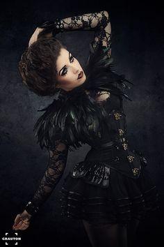 Le Chat Noir by *la-esmeralda Model, Hair  make-up: LaEsmeralda Photo: Heiner Seemann Couture: Morgaine La Chatte
